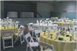 Yellow Table Cloths and Tables