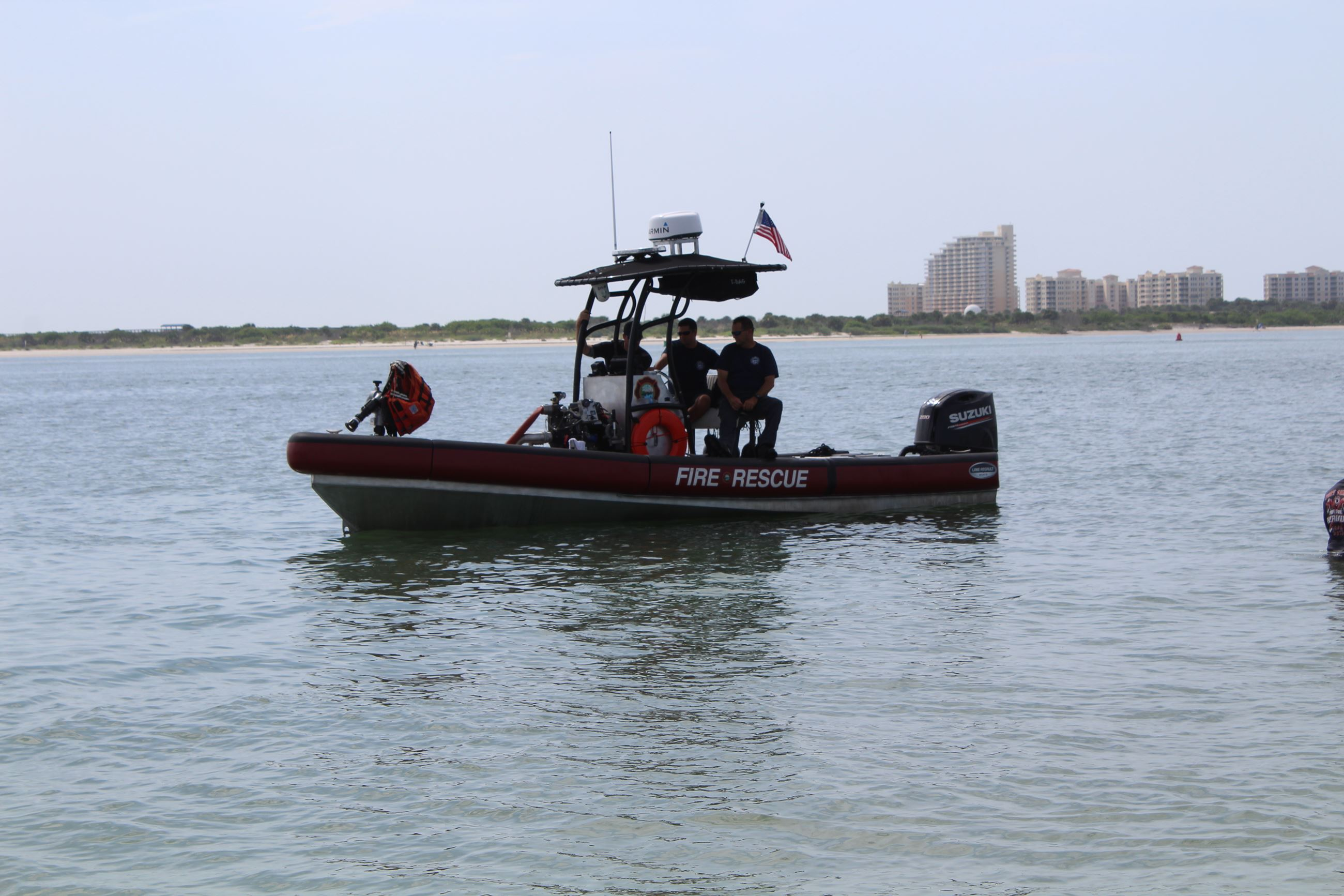 New Smyrna Beach Fire Rescue boat